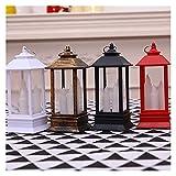 Vela LED, Luces de Vela eléctrica de decoración navideña, linternas Colgantes, adecuadas para la Tienda de propiedades de la Tienda para el hogar decoración del hogar (Body Color : Bronze)
