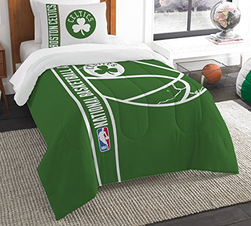 The Northwest Company Officially Licensed NBA Boston Celtics Reverse Slam Twin Comforter and Sham