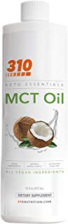 MCT Oil, Keto, and Paleo Friendly by 310 Nutrition | Pure MCT Oil Made from Coconut Oil | Quick and Reliabl...