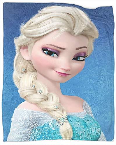 Manta de franela súper suave de Frozen Movie para Navidad, Año Nuevo, regalos para el sofá de la cama, tamaño completo 177,8 x 228,6 cm