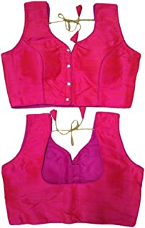Pink Full Stitch Blouse Sari Blouse Saree Designer Indian Style Padded Blouse for Saree Crop Top Choli 610