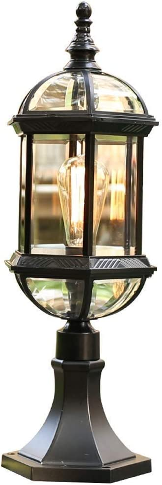 ZZYJYALG European Luxury Glass Post Waterproo Cheap mail order shopping Outdoor IP54 Light Don't miss the campaign