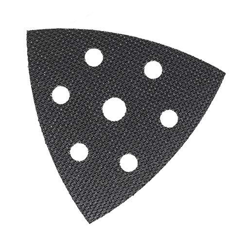 Schutzauflage für Deltaschleifer Schleifplatte 93x93x93 mm 6-Loch, Klett Schutz Pad für bessere Haftung von Schleifpapier Dreieckschleifer – DFS