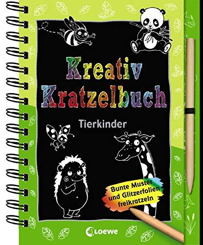 Kreativ-Kratzelbuch: Tierkinder: Kritz-Kratz-Beschäftigung für Kinder ab 5 Jahre