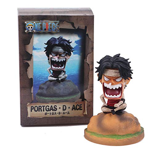URPRU Anime OP Ace Childhood Venged Angering Style PVC Figuras de accion OP Luffy Brother Coleccionables Modelo Juguetes 12cm