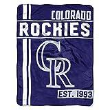 MLB Colorado Rockies Micro Raschel Throw, One Size, Multicolor