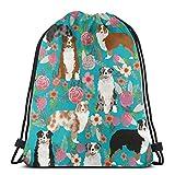 Mochila de viaje para niños, hombres y mujeres, diseño de perro pastor australiano