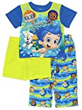 Bubble Guppies Boys 3 Piece Pajamas Set (3T, Blue/Green) by Nickelodeon