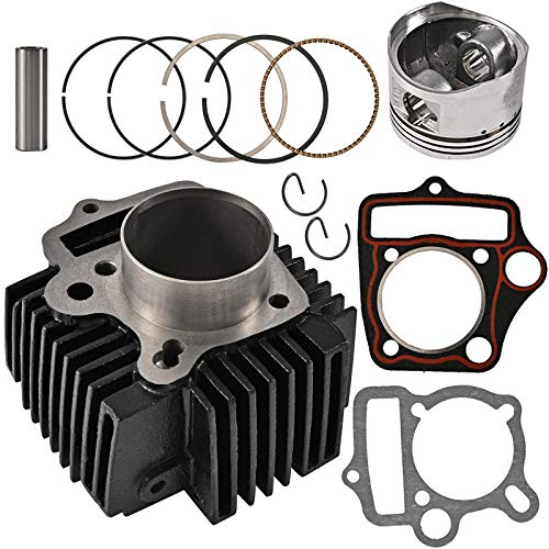 Trkimal 52.4mm Engine Parts Cylinder big bore kits with Gaskets and Piston Set for 4 Stroke Chinese TaoTao Coolster ATV 110cc Pit Quad Dirt Bike Go Kart