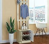 CDXZRZYH Multifuncional de Entrada de Madera Mueble recibidor, armarios, Ropa de Piso Polvo, combinación del gabinete del Zapato Perchas (Color : Flower Cedar)
