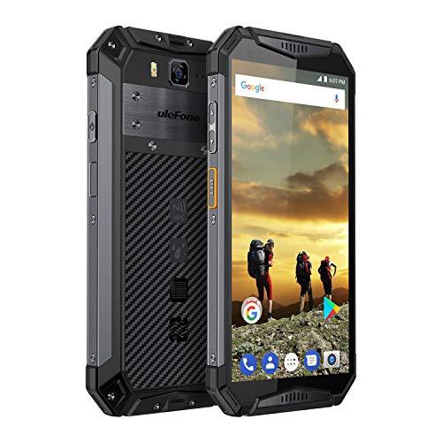 Ulefone Armor 3, IP68 Smartphone Libre Resistente 4G Outdoor, Batería Grande 10300mAh, IP68&IP69, 5.7'' Pantalla Grande 18:9, 4GB+64GB, Android 8.1, Doble Nano SIM, OctaCore, Carga Rápida, NFC (Negro)