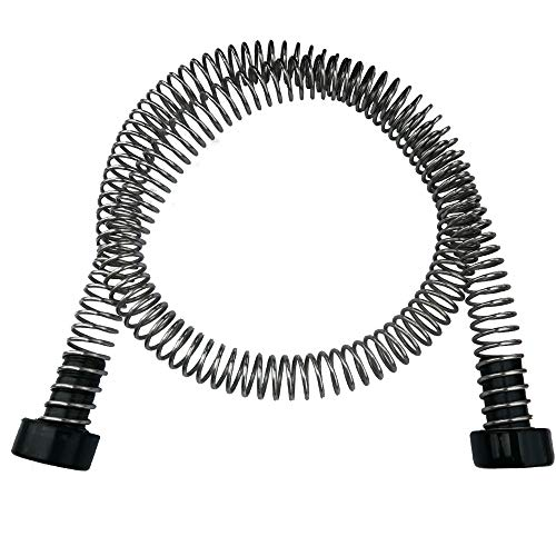 "CARAPEAK Heavy Duty Stainless Steel Zipline Spring Brake Extra Long 6.3 FT Fits Cable up to 1/2"", Kids Backyard Zip Line Braking System/Stop/Stopper for 3/16 1/4 5/16 3/8 1/2 inch Wire"