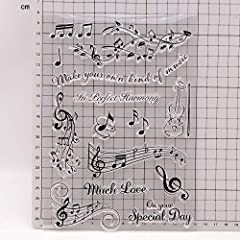 KWELLAM Musical Note in Perfect Harmony Much Love Special Day Clear Stamps for Card Making Decoration and DIY Scrapbooking #1