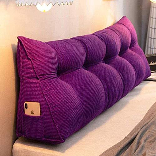 N\A cuscino da lettura triangolare, cuscino triangolare per la schiena, cuscino per la schiena, cuscino per il posizionamento dello schienale, cuscino per seduta o divano letto rimovibile lavabile