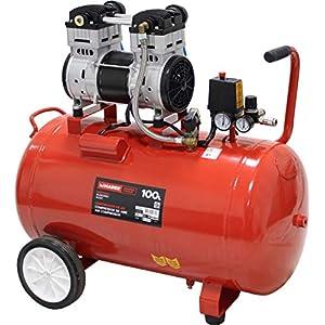 51ZbX16H2eL. SS300  - MADER POWER TOOLS - Compresor de aire (sin aceite) 100L 2HP - silencioso - ecologico - economico