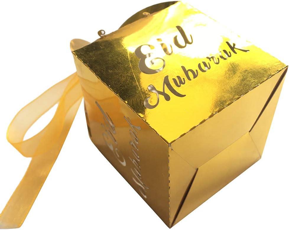 Youlin 50pcs Boite Bonbon Eid Mubarak Ramadan Sac Bonbon Anniversaire Sacs Cadeaux