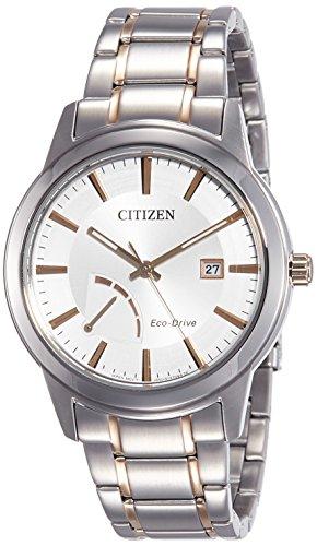 Citizen Herren Analog Quarz Uhr mit Edelstahl Armband AW7014-53A
