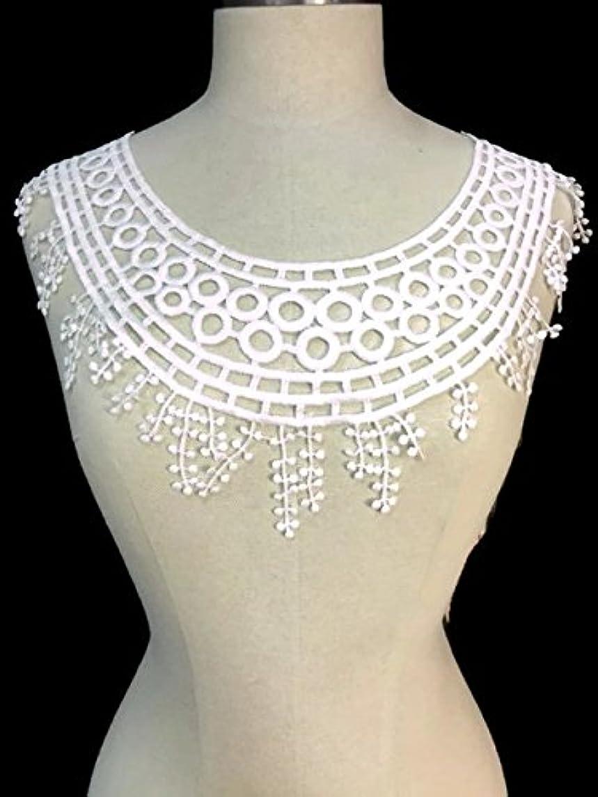 Lace Applique Neckpiece Egyptian Design Yoke Embroidery Collar Motif, 10