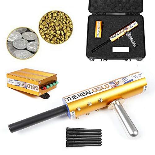 AKS Metall Golddetektor 6 Antennen Diamond Suche 6000m Detector Metalldetektor Underground Metallsuchgerät Treasure Scanner für Vergraben von (Silber)