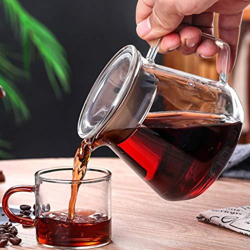VENTDOUCE Kaffeekanne Glas kaffeekessel induktion, Kaffeemaschine French Coffee Press Espresso Tasse Glas Kaffekanne Hitzebeständig Borosilikatkrug für heiße/kalte Getränke-400ML/550ML