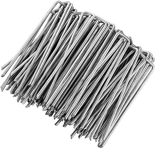 HelpAccess Anti-ROST Erdanker für Unkrautvlies, Erdnägel aus verzinktem Stahl im Set zur Befestigung von Unkrautflies, Unkrautfolie, oder fürs Camping, 150 mm Höhe, 30 mm Breite, Ø 2,7 mm (150)