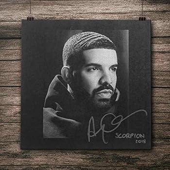 CANVAS poster drake scorpion Wall Art 100% Cotton Fabric Print Gift Idea
