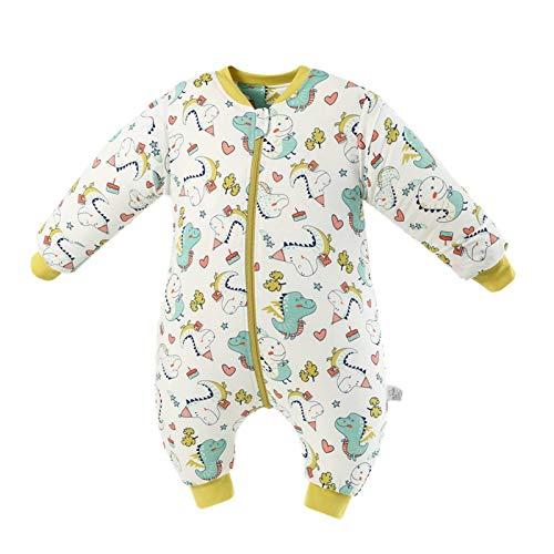 Bebé Saco de Dormir Algodón Bolsa de Dormir con Piernas 2 Tog Mameluco Primavera Pijamas Desmontable Manga Larga para Niños Niñas, 4-6 Años