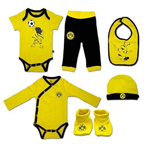 Borussia Dortmund BVB Baby-Geschenkbox (6-teilig), Größe 62/68