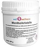 well2wellness® Mentholkristalle intensiv in einer 250g Dose - aus 100% reinem Minzöl gewonnen