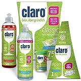 Claro Práctico Pack para Lavar la Vajilla - 75 Pastillas Detergente, Botellita de 500ml de detergente, Abrillantador de 500 ml, 1kg de Sal, 1 Botecito de Limpiador en Polvo - para Lavavajillas