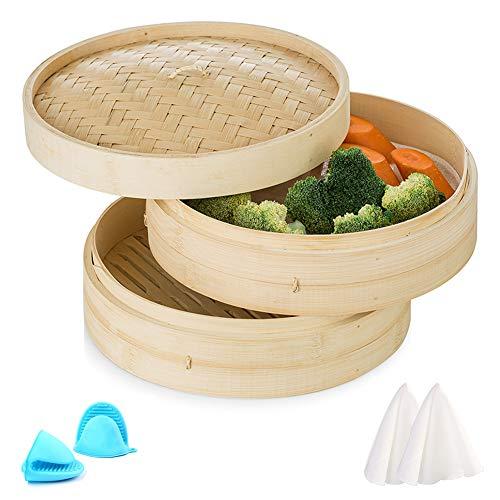 Sziqiqi Vaporera Bambú Vaporizador por Niveles Cocina Asiá
