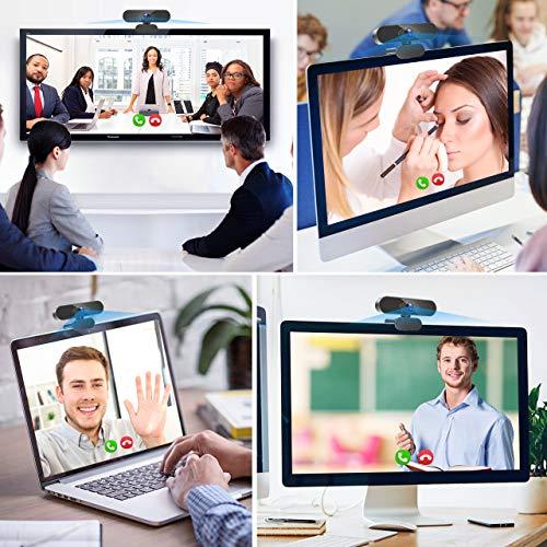 Teaisiy Webcam PC, Webcam con Micrófono Portátil 1080P HD/30pfs Streaming Cámara para Videollamadas, Estudiar en Línea, Conferencia, Grabación, Webcam USB 2.0 para PC, TV etc miniatura