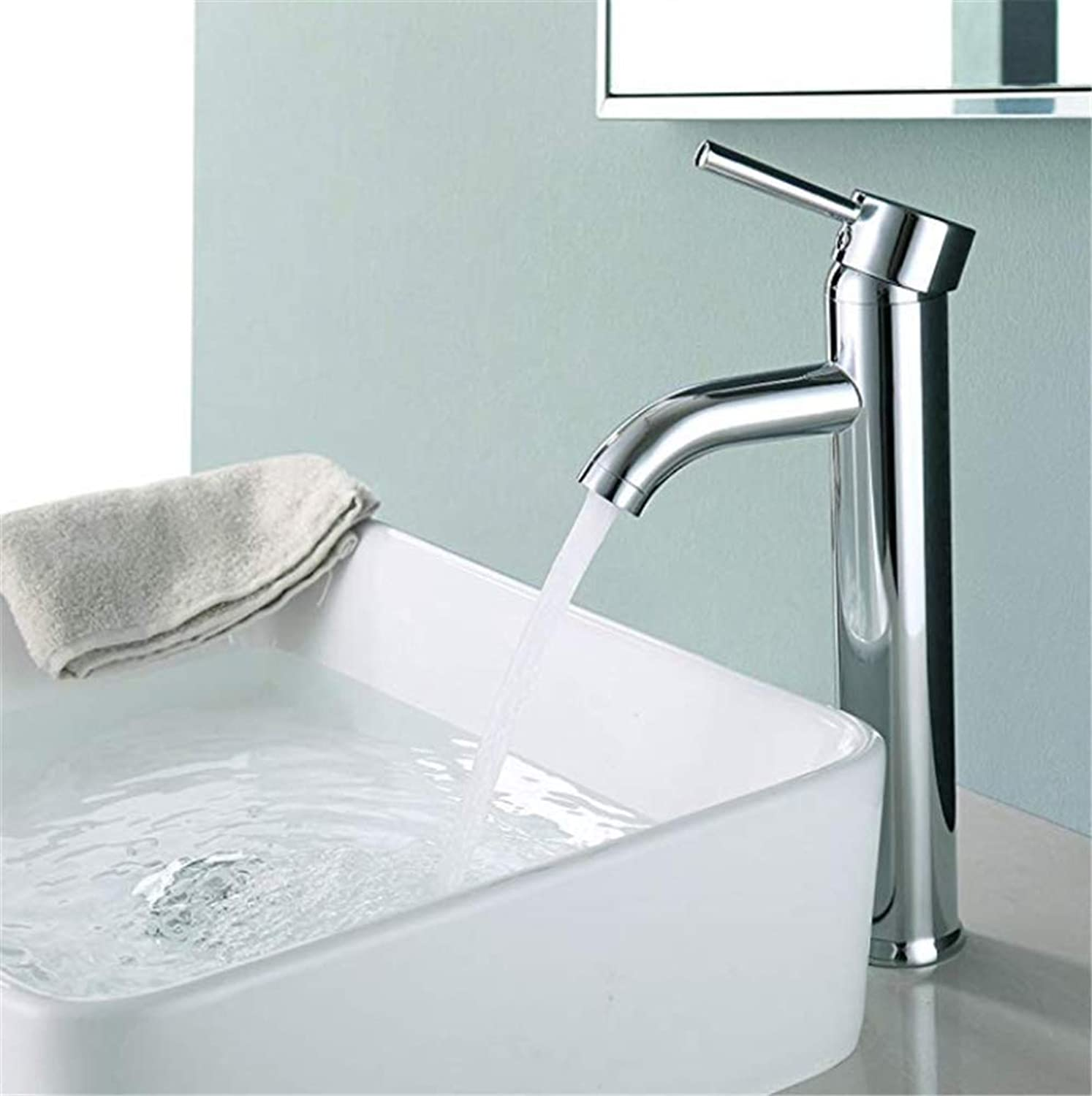 Pull Out The Pull Down Stainless Steelbathroom Single Taps Mono Sink Mixer Tall
