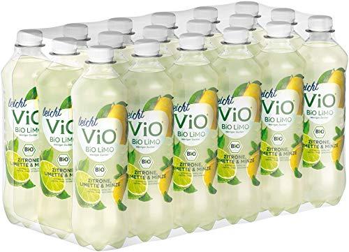 ViO BiO Limo leicht Zitrone Limette-Minze, Reines Mineralwasser gemischt mit Zitrone & Limette sowie einem leichten Geschmack von Minze, EINWEG Plantbottle (18 x 500 ml)