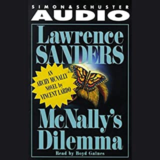Lawrence Sanders' McNally's Dilemma audiobook cover art
