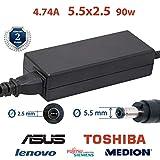 Chargeur asus ordinateur portable 4.74A 5,5x2,5 19v 90w - chargeur toshiba satellite...