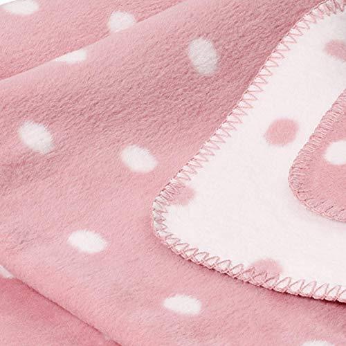 kids&me kuschelige rosa Babydecke für Mädchen - OEKO-Tex zertifizierte Bio-Baumwolle kbA - 70x100cm - MADE IN GERMANY