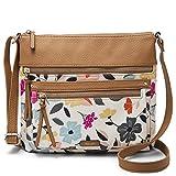 Relic by Fossil Women's Riley NS Crossbody Handbag, Color: Floral Multi/White Model: (RLH9001782)