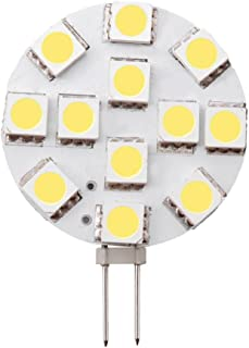 Dream Lighting Low Power 12V DC Cool White Super Bright SMD LED G4 Replacement Lamp Side Pin Kitchen/Cabinet/Cupboard/Dow...