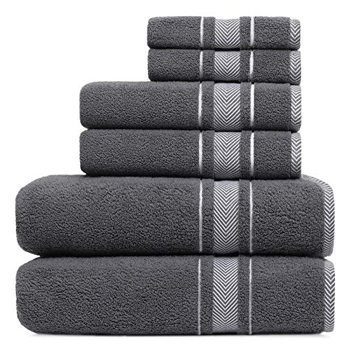 Lovife 6 Piece Towel Sets 100% Cotton for Bathroom & Hotel Only $21.99 (Retail $39.99)