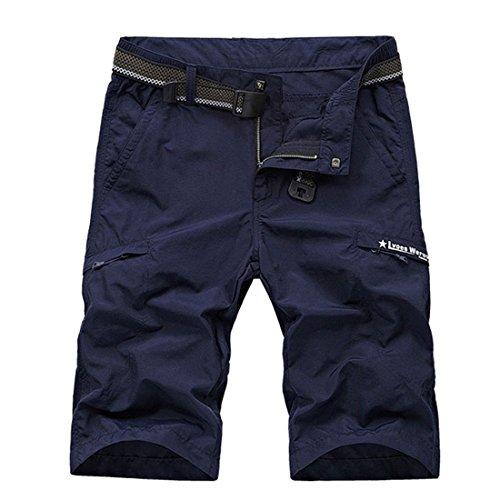 Herren-Shorts, wasserdicht, schnelltrocknend, leicht, Sport, Cargo, Shorts und Bermudie, atmungsaktiv, dehnbar, Radsport, Shorts Gr. FR 46(=Asia Tag 4XL), blau