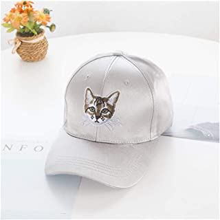 Hats Spring and Summer Travel Sun Visor Fashion Hip Hop Cap Patched Kitten Baseball Hat Fashion (Color : Grey, Size : F)