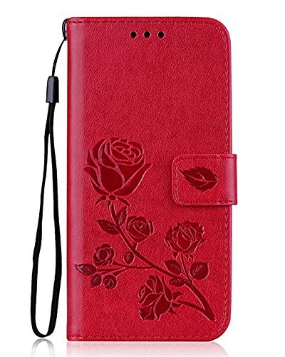 HJUIK Custodia Custodia A Portafoglio in Pelle Fit for Samsung Galaxy S3 / S3 Neo / S3 Duos Custodia Protettiva Contro Le Cadute del Telefono (Color : Dark Red)