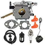 Mckin WT-45 Carburetor + Gas Fuel Cap + Repower Kit fits Stihl FS48 FS52 FS62 FS66 FS81 FS86 FS88 FS106 Trimmer Weed Eater Parts