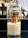 Organizador de soporte de brochas de maquillaje YANROO, organizadores de acrílico, caja a prueba de...