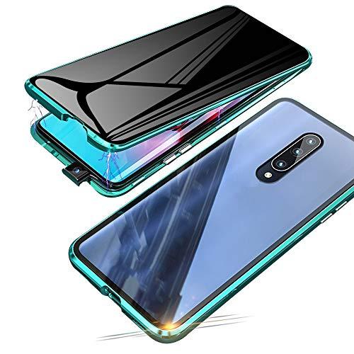 Jonwelsy Anti-Spy Funda para Xiaomi Mi 9T / 9T Pro, 360 Grados Proteccion Case, Privacidad Vidrio Templado Anti espía Cover, Adsorción Magnética Metal Bumper Cubierta para Xiaomi Mi 9T Pro (Verde)