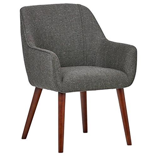 Marchio Amazon -Rivet, sedia da sala da pranzo modello Julie, stile mid-century, 60 cm, colore grigio cenere