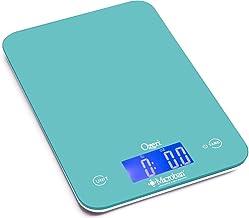 Ozeri Touch II Báscula Digital de Cocina para 8 kilos con protección antimicrobiana de productos Microban, color azul