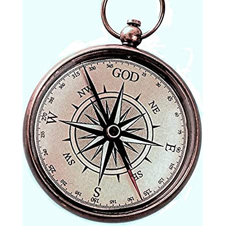 KRAFTBAZAR Engraved Compass with Wooden Box Joshua 1 9 Engraved Gifts Missionary Gifts Baptism Gifts Birthday Gifts. Confirmation Gift Ideas