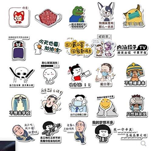 DSSJ Graffiti creative text emoji bag electric car luggage trolley suitcase guitar suitcase computer waterproof stickers 40pcs